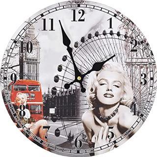 vidaXL Marilyn Monroe 30cm Wall Clock