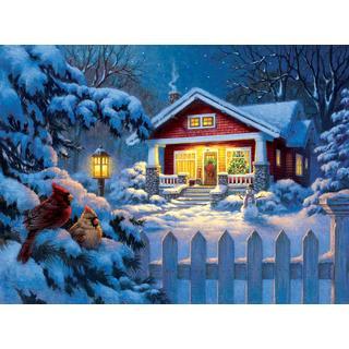 Sunsout Corbert Gauthier Christmas Bungalow 1000 Pieces