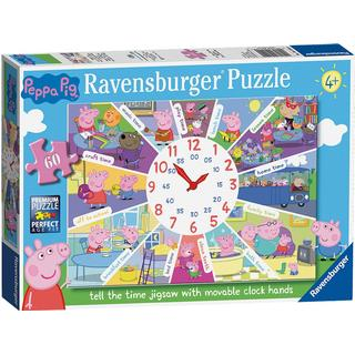 Ravensburger Peppa Pig Tell The Time Jigsaw with Movable Clock Hands 60 Pieces