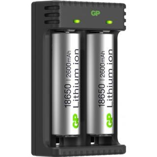GP 18650 Rechargeable 2 Batteries + L211 Charger