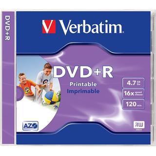 Verbatim DVD+R 4.7GB 16x Jewelcase 1-Pack Wide Inkjet (43507)