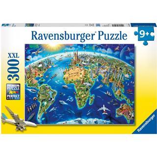 Ravensburger World Landmarks Map XXL 300 Pieces