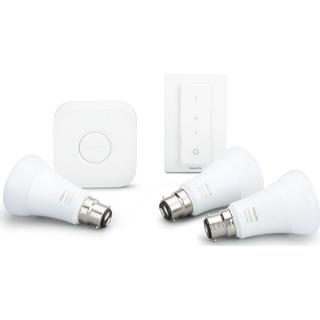 Philips Hue White and Colour Ambience LED Lamp 10W B22 3-pack Starter Kit