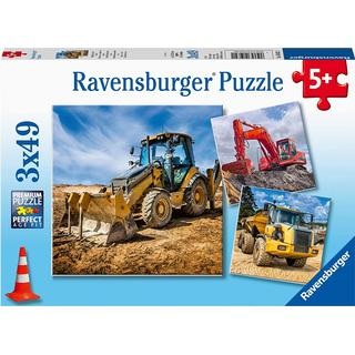 Ravensburger Construction Vehicles in Use 3x49 Pieces