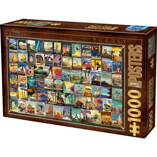 Dtoys Vintage Collage Travel 1000 Pieces
