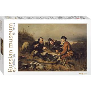 Step Puzzle Russian Museum Perov. Hunters Stop to Rest 1000 Pieces