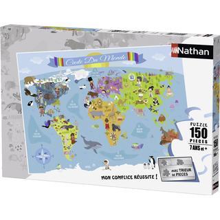 NATHAN World Map XXL 150 Pieces