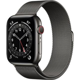 Apple Watch Series 6 Cellular 44mm Stainless Steel Case with Milanese Loop