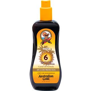 Australian Gold Spray Oil Sunscreen Carrot Oil Formula SPF6 237ml