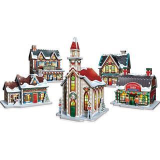 Wrebbit 3D Christmas Village Puzzle 116 Pieces