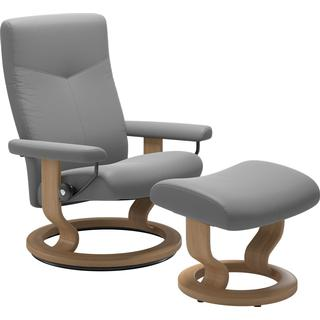 Ekornes Stressless Dover Classic Large with Footstool Leather 101cm Reclining Chair