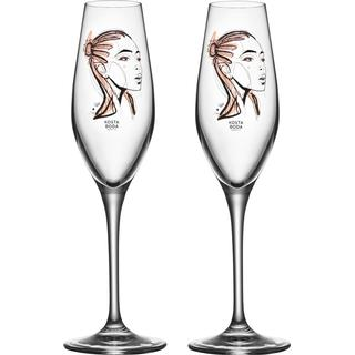 Kosta Boda All About You Forever Yours Champagne Glass 23 cl 2 pcs