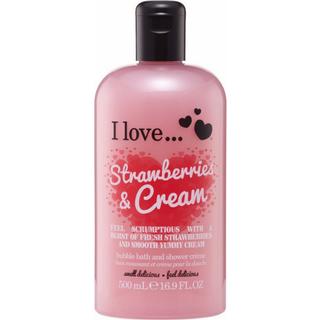 I love... Strawberries & Cream Bath & Shower Crème 500ml