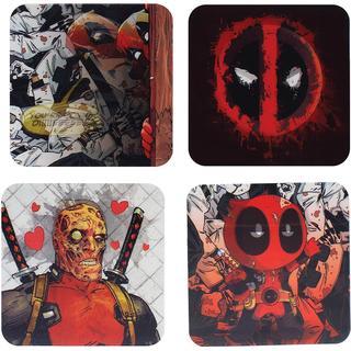 Paladone Deadpool Lenticular Coaster 4 pcs