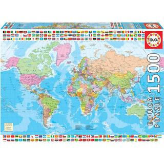 Educa Political Worldmap 1500 Pieces