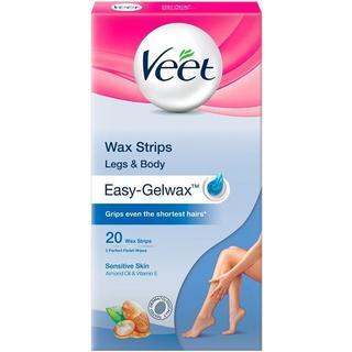 Veet Easy Gel Wax Strips Sensitive Skin 20-pack
