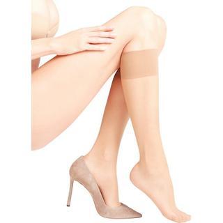 Falke Seidenglatt 15 Den Women Knee-High Socks - Powder
