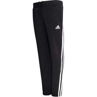 Adidas 3-Stripes Doubleknit Tapered Leg Tracksuit Bottoms - Black/White (GE0668)
