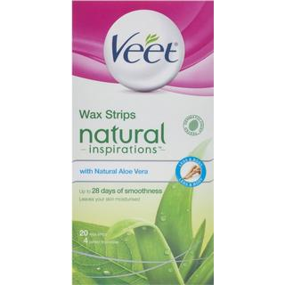 Veet Natural Inspirations Wax Strips with Aloe Vera for Normal Skin 20-pack