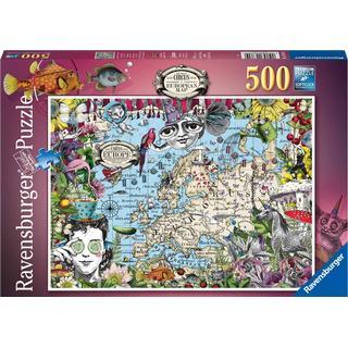 Ravensburger Map of Europe Snap Circus 500 pieces