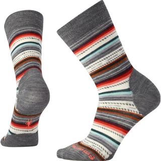Smartwool Women's Margarita Socks - Medium Gray Heather/Bright Coral
