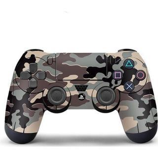 Slowmoose PS4 Controller Vinyl Skin - Black/Grey Camouflage