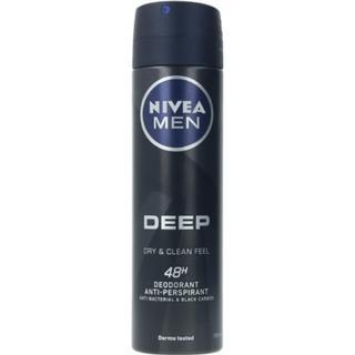 Nivea Men Deep Black Carbon 48h Deo Spray 150ml