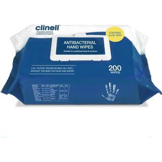 Clinell Antibacterial Hand Wipes 200-pack