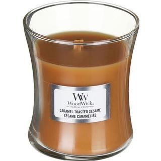 Woodwick Caramel Toasted Sesame Small Scented Candles