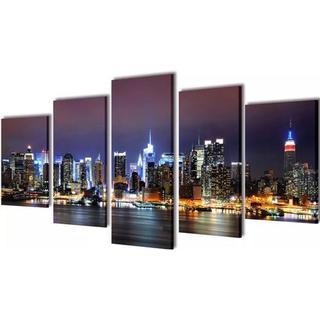 vidaXL Canvastavlor New York Skyline 200x100cm Posters