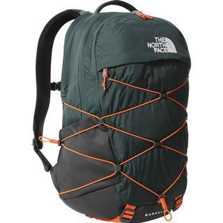 The North Face Borealis Backpack - Dark Sage Green/Red Orange