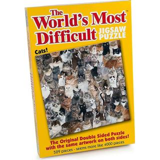 Paul Lamond Games The World's Most Difficult Jigsaws Cats 529 Pieces