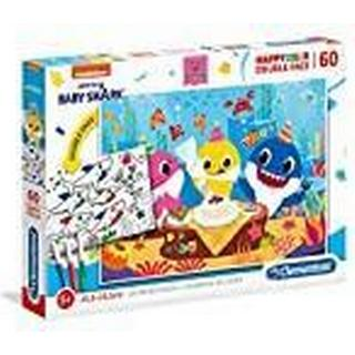 Clementoni HappyColor Double-sided Baby Shark 60 Pieces