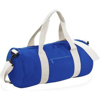 BagBase Plain Varsity Duffle Bag - Bright Royal/Off White