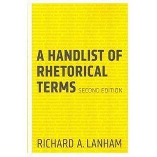 A Handlist of Rhetorical Terms (Häftad, 2013), Häftad
