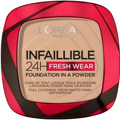 L'Oreal Paris Infaillible 24H Fresh Wear Foundation in a Powder #130 True Beige