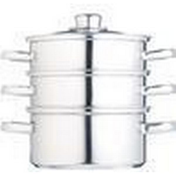 Kitchencraft Three Tier Stainless Steel Stockpot with lid 18cm