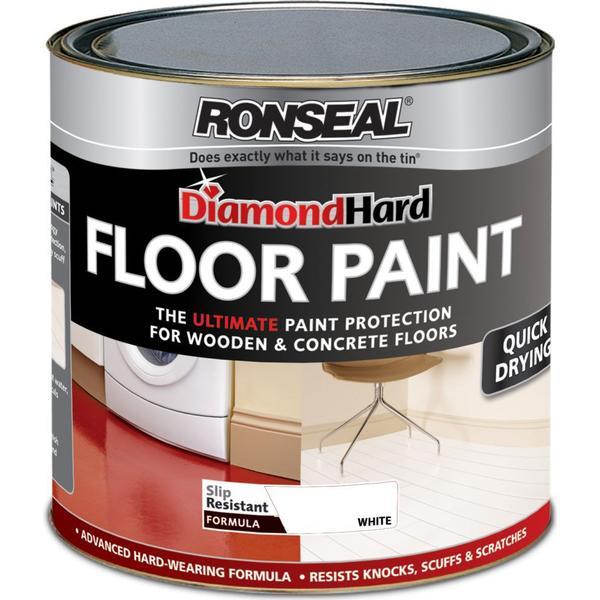 Ronseal Diamond Hard Floor Paint White 0.75L