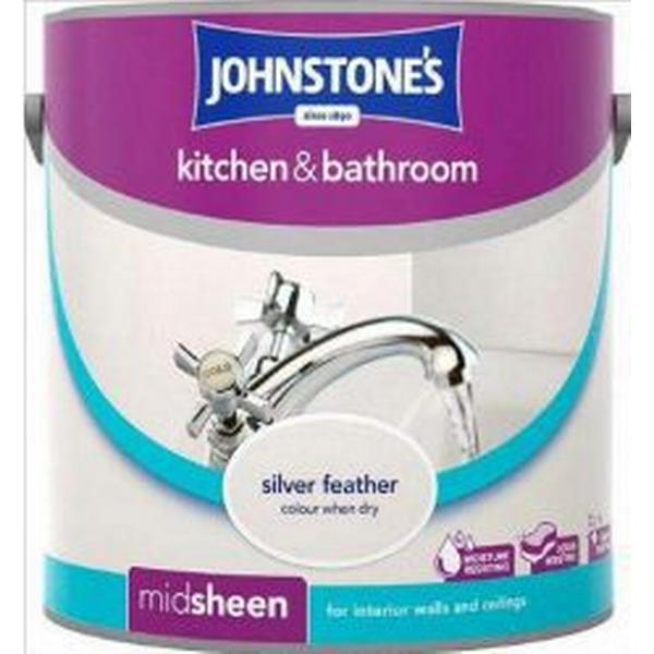 Johnstones Kitchen & Bathroom Wall Paint, Ceiling Paint Silver 2.5L