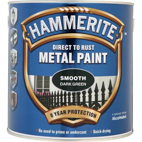 Hammerite Direct to Rust Smooth Finish Metal Paint Green 2.5L