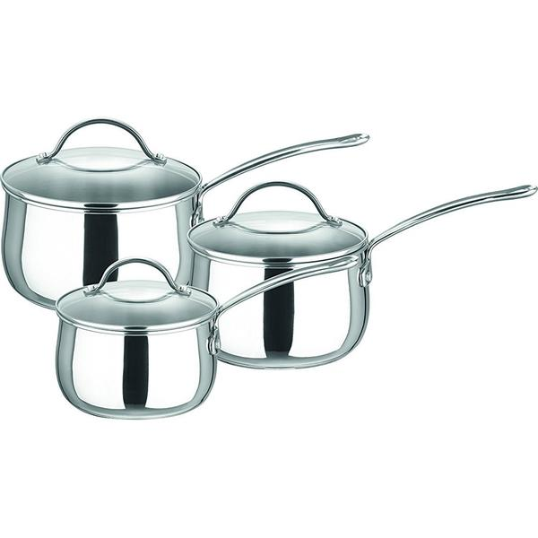 Prestige Bell Shaped Saucepan Set with lid 3 parts