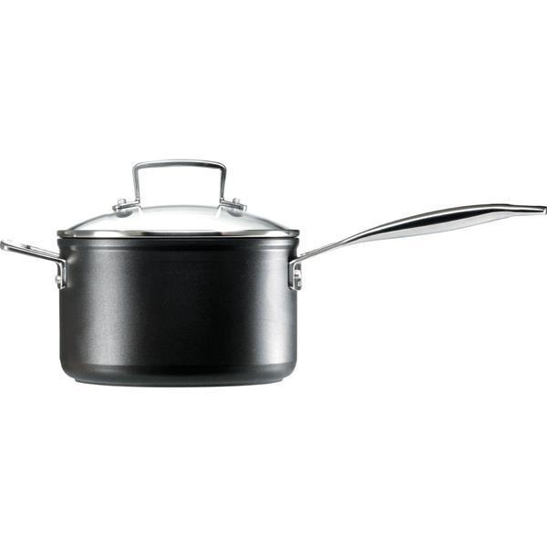 Le Creuset Toughened Non Stick Saucepan Sauce Pan with lid 18cm