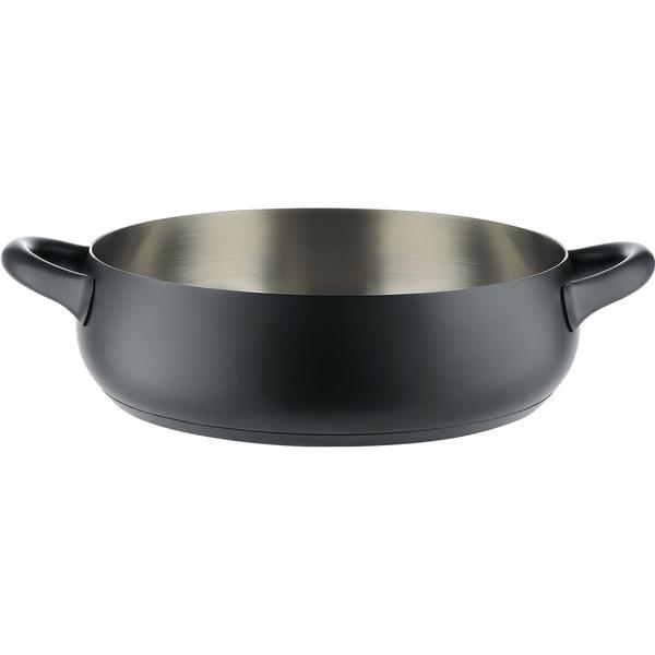 Alessi Mami Stainless Steel Silicone, 4.6L Shallow Casserole 28cm