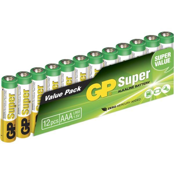 GP Batteries 24A AAA LR03 Super 12-pack