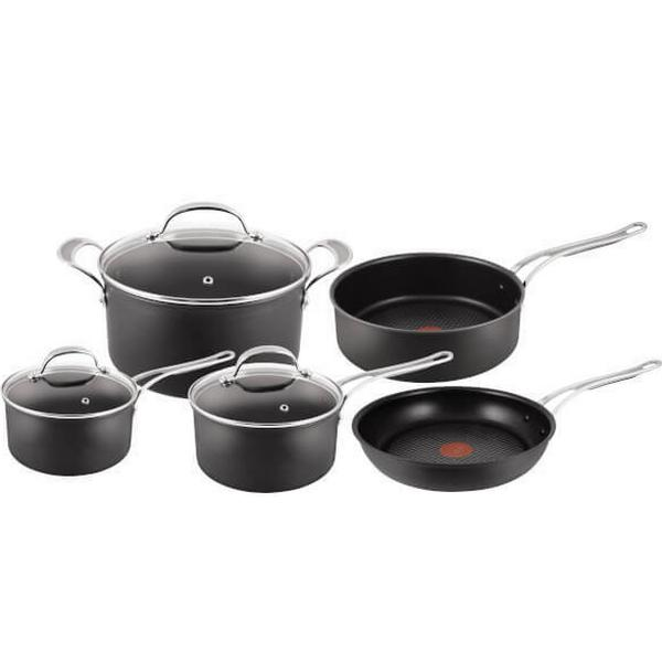 Tefal Jamie Oliver Hard Anodised Non Stick Set with lid 5 parts
