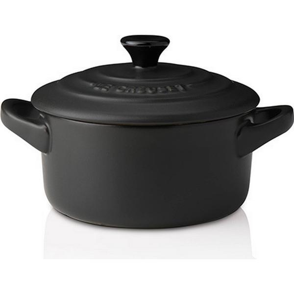 Le Creuset Satin Black Stoneware Petite Round Other Pots with lid 9cm
