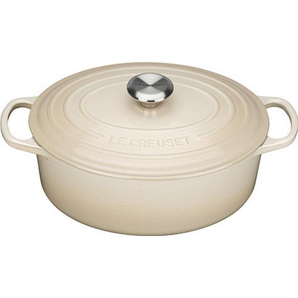 Le Creuset Almond Signature Cast Iron Oval Other Pots with lid 29cm