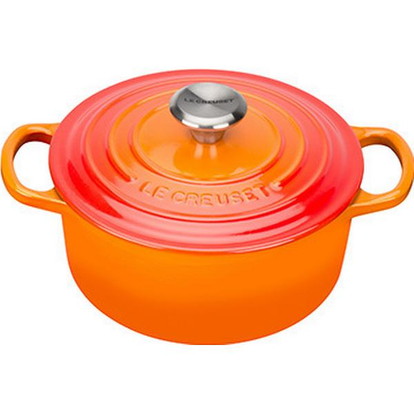 Le Creuset Volcanic Signature Cast Iron Round Other Pots with lid 18cm