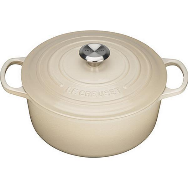 Le Creuset Almond Signature Cast Iron Round Other Pots with lid 26cm