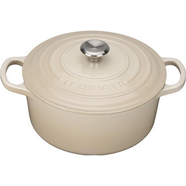 Le Creuset Almond Signature Cast Iron Round Other Pots with lid 22cm